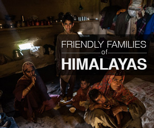 Families from the Himalayas who stunned us with their hospitality