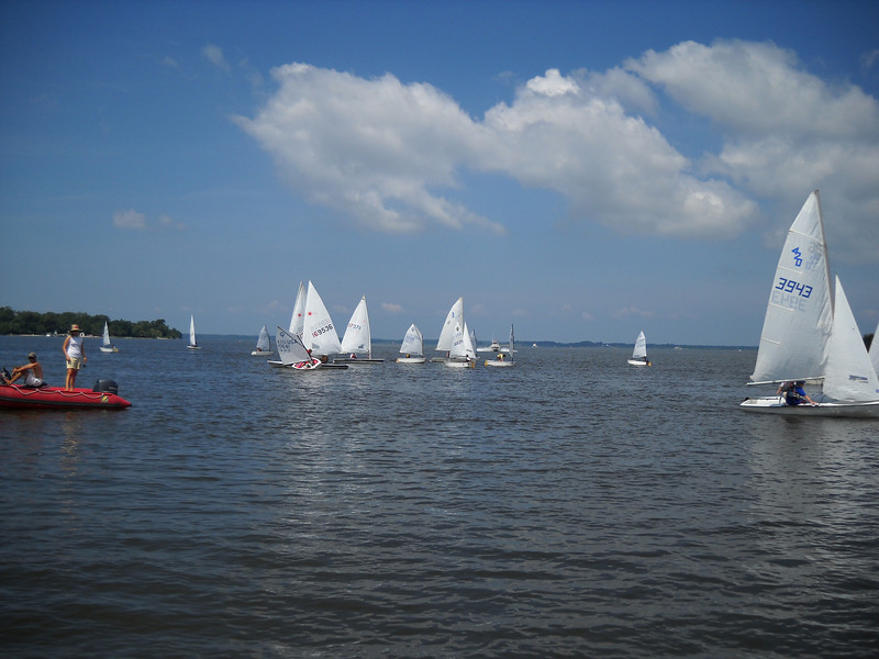The Corsica River is a great place for smaller boats (Opti's, Lasers, 420's) to sail.  There is very little boat traffic and it provides a convenient sail to the race courses.  Larger boats, or large events, can expand out into the Chester River giving us multiple race courses for multiple classes with only a slightly longer sail time to the race course.