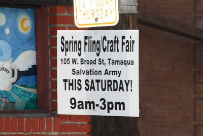 Spring Fling Craft Fair, Salvation Army, Tamaqua (4-28-2012)