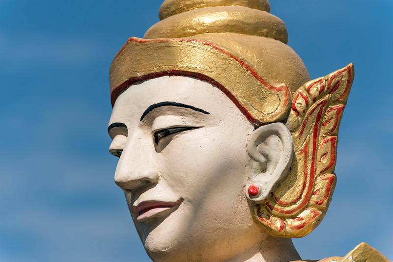 Nat spirit statue, Uzina Pagoda (U Zina Paya) in Mawlamyine (Mawlamyaing), Mon State, Burma (Myanmar)