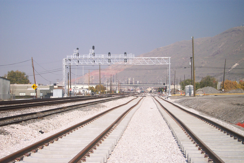 New FrontRunner tracks, October 29, 2007. (Don Strack Photo)