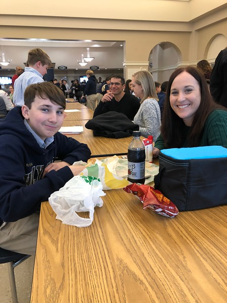 7th Grade Parent Son Lunch 1/31/2020