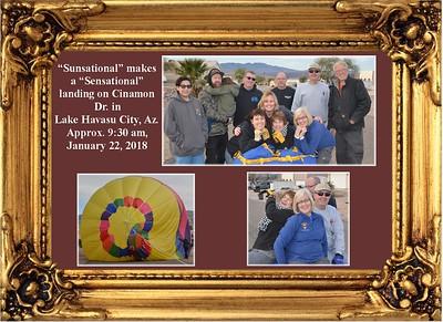 """1-22-18 """"Sunsational""""  Balloon Lands in Neighborhood"""