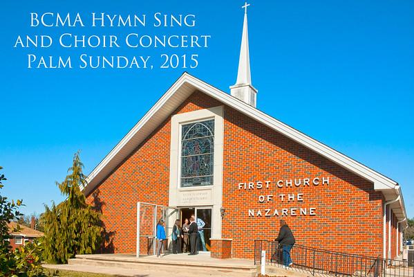 BCMA Hymn Sing, Palm Sunday, 2015