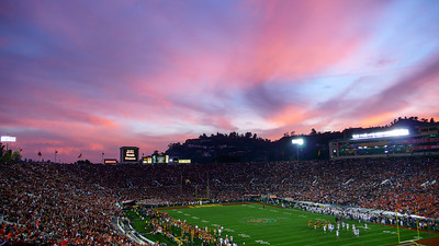 USC Trojans Vs. the Fighting Illini, Rose Bowl Pasadena, CA