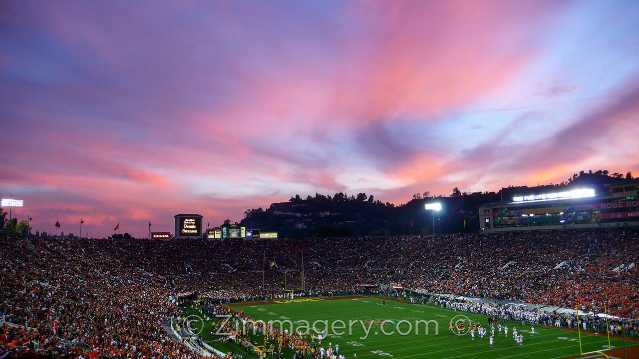 USC Trojans Vs. the Fighting Illini, Rose Bowl Pasadena, CA