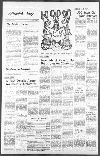 Daily Trojan, Vol. 56, No. 106, April 28, 1965