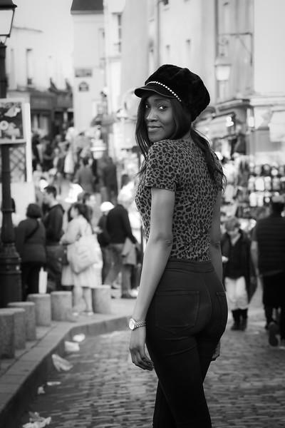 Miss N, Un Jour de Mars 2019, à Montmartre