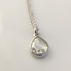 1.03ct Pear Shape Rose Cut Diamond Pendant 1