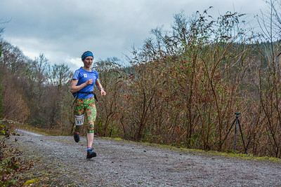 Winter Trail Marathon Wales - 100 Meters to go!