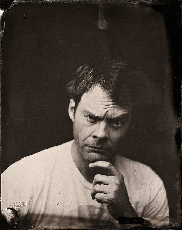 . Bill Hader poses for a tintype (wet collodion) portrait at The Collective and Gibson Lounge Powered by CEG, during the 2014 Sundance Film Festival in Park City, Utah. (Photo by Victoria Will/Invision/AP)