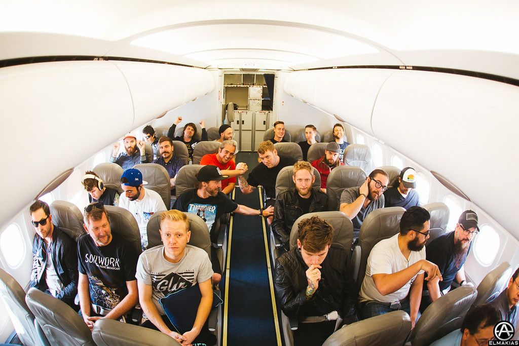 Back of the plane party, A Day To Remember with Silverstein by Adam Elmakias