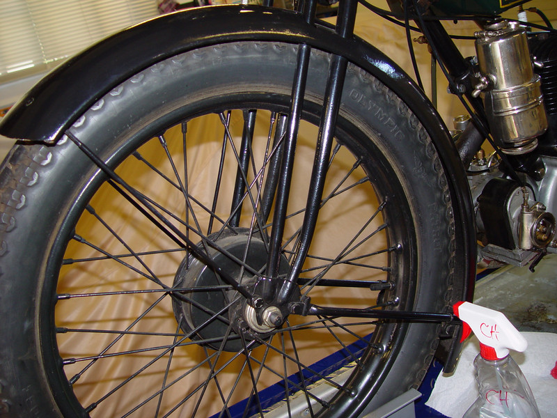Front wheel reference