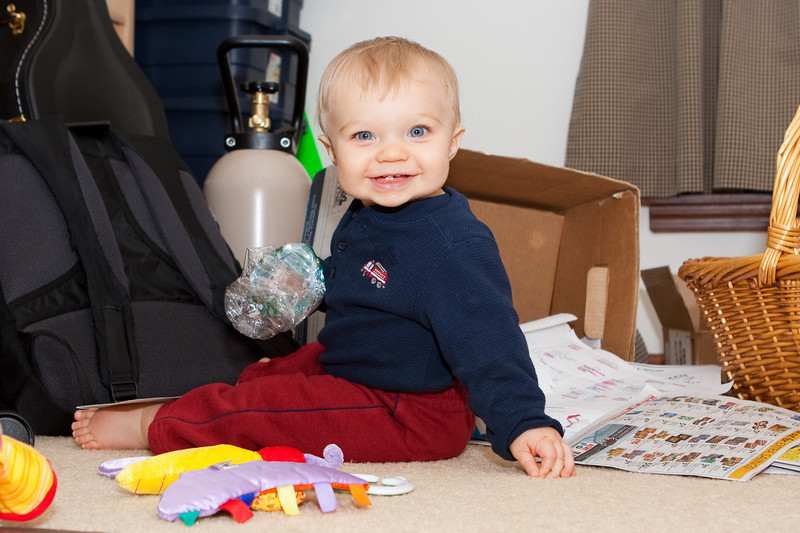 Ethan finds the recycle box in Dad's office.