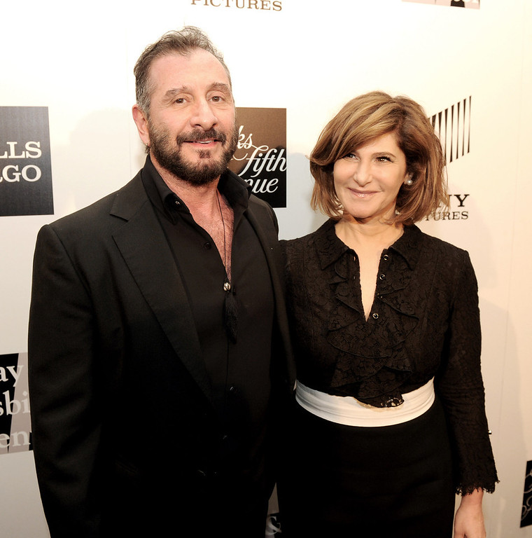 ". Honoree\'s fashion designer Ralph Rucci (L) and Amy Pascal of Sony Pictures Entertainment pose at ""An Evening\"" benifiting The L.A. Gay & Lesbian Center at the Beverly Wilshire Hotel on March 21, 2013 in Beverly Hills, California.  (Photo by Kevin Winter/Getty Images)"