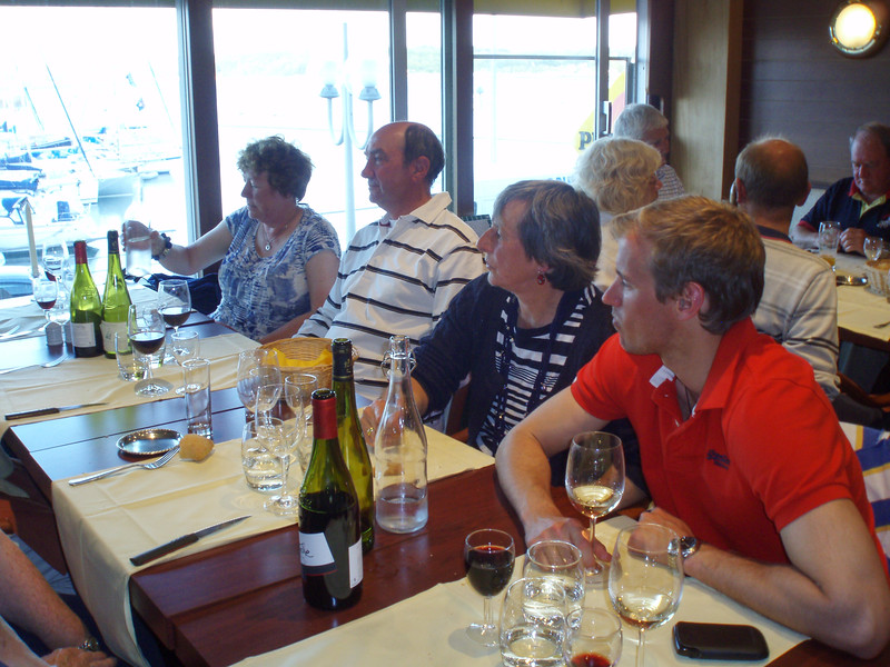 """The second """"end of cruise dinner"""" in Cherbourg"""