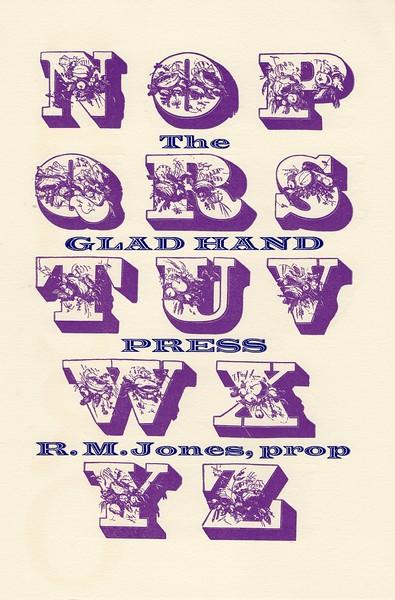 Cover,  1992, Glad Hand Press