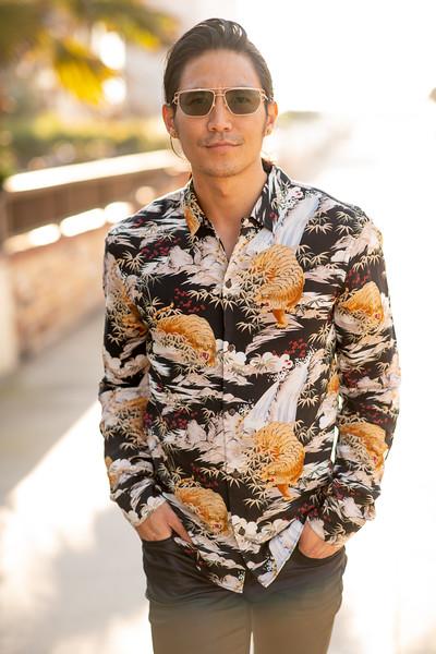 """REAL BROTHERS - Tetsuo Hatanaka, @tetsuobobbyhatanaka, 28 5'7""""   Shirt S/M   Pant 29   Shoe 9   150lbs  - Kainoa Payton, @threatoption808, 38"""
