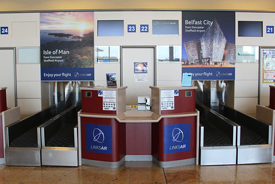 LinksAir check-in desk .............16th April 2014