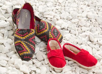 Ruby Slipper TOM's shoe shots for postcard Oct. 13, 2012