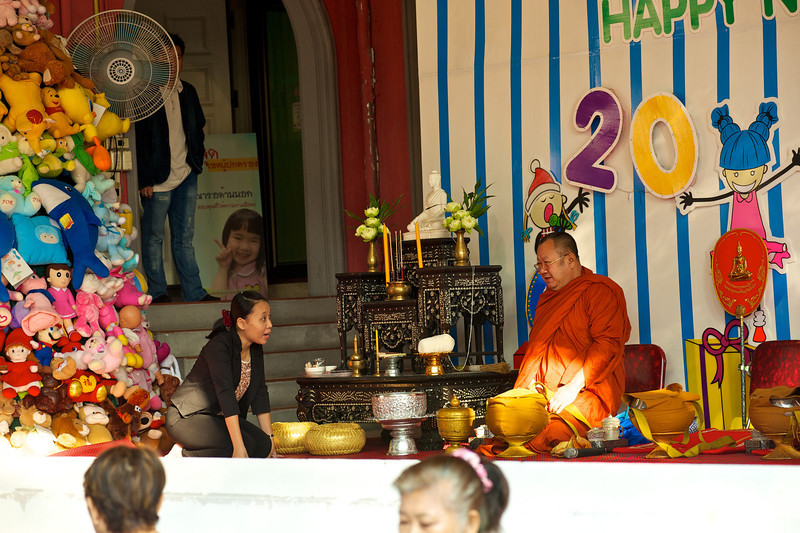 Head Monk getting ready