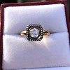.53ctw Rose Cut Halo Ring, by Single Stone 21