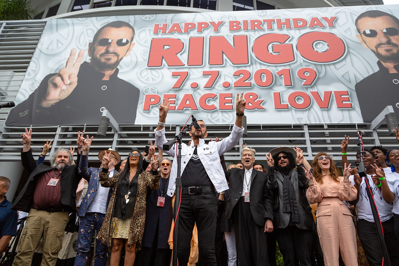 2019_07_07, Birthday, CA, Capitol Records, Los Angeles, Ringo, Ringo Starr, Peter Jackson, Jenny Lewis, David Lynch, Don Was, Names