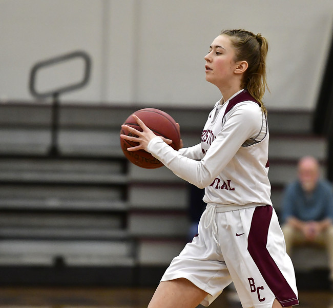 1/30/2020 Mike Orazzi   Staff Bristol Central's Ella Watson (23) during Thursday night's girls game with Manchester in Bristol.