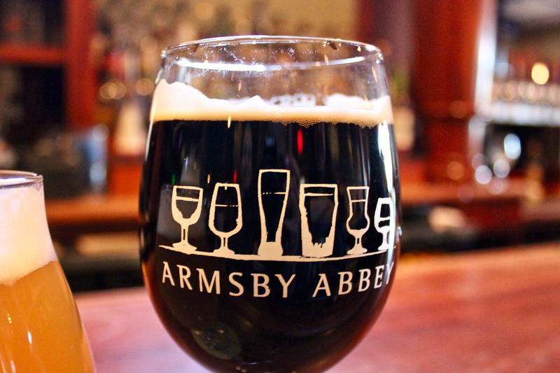 beer at Armsby Abbey in Worcester, Massachusetts
