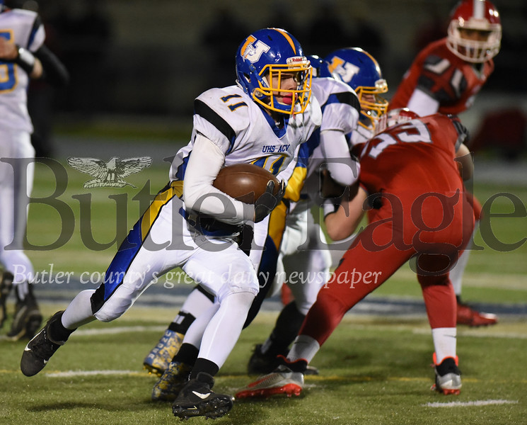Harold Aughton/Butler Eagle: ACV/Union Eli Penny gains a first down in the third quarter.