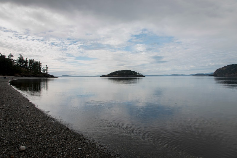 Island in a lake, Deception Pass State Park, Oak Harbor, Washington State, USA