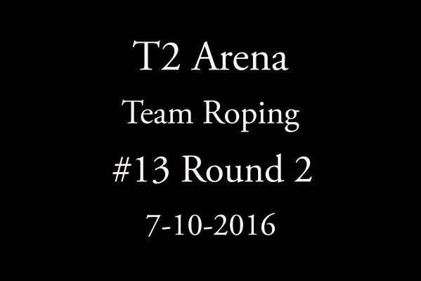 7-10-2016  Team Roping #13 Round 2