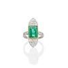 4.05ct Emerald and Old European Cut Diamond Ring 39