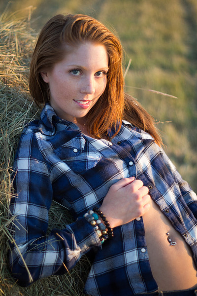 A day of shooting and fun with Model Sydney in Idaho, along the Selway River, Clearwater River and Idaho's Farm Country.