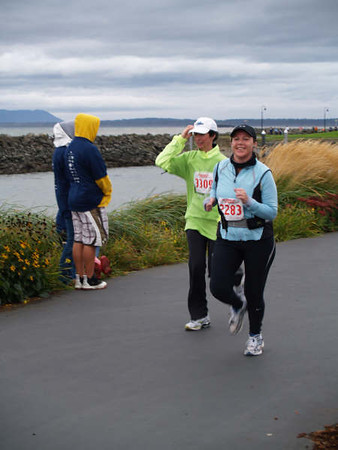 2007 Bellingham half marathon with Janelle