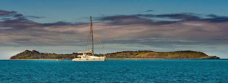 Necker Island and Catamaran