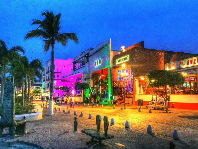 Night on the Malecon - Puerto Vallarta, Mexico
