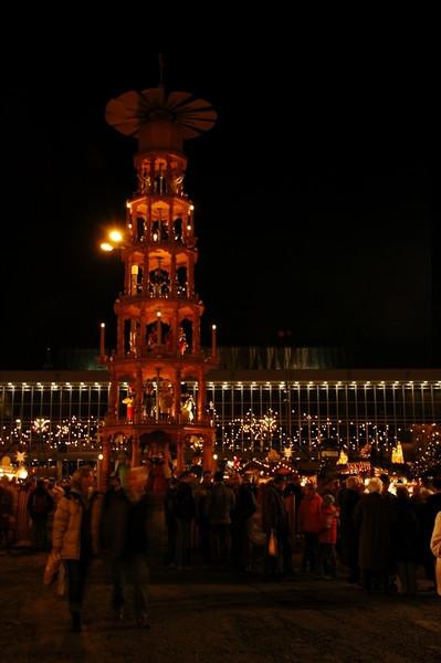 Christmas Pyramid at Striezelmarkt - Dresden, Germany