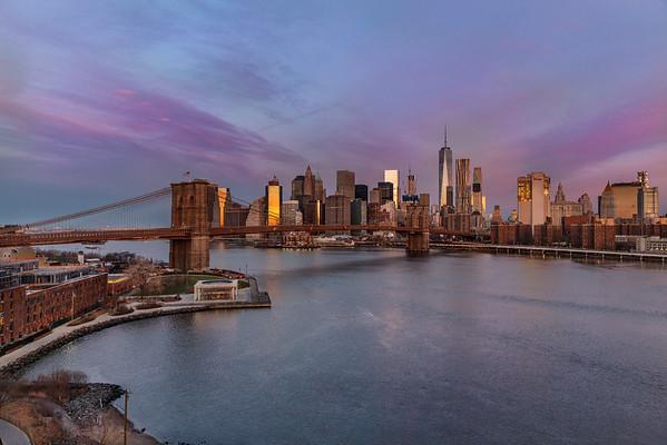 NYC Brooklyn Bridge and WTC