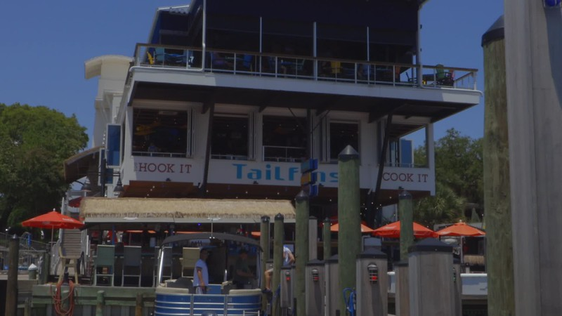 Tailfins Pontoon Boat Rental - Restaurant Promo Video