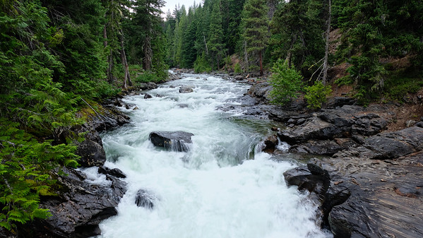 Rushing waters of the Icicle Creek
