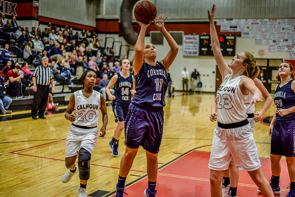 REGION TOURNAMENT Varsity Girls vs Calhoun 2-5-18
