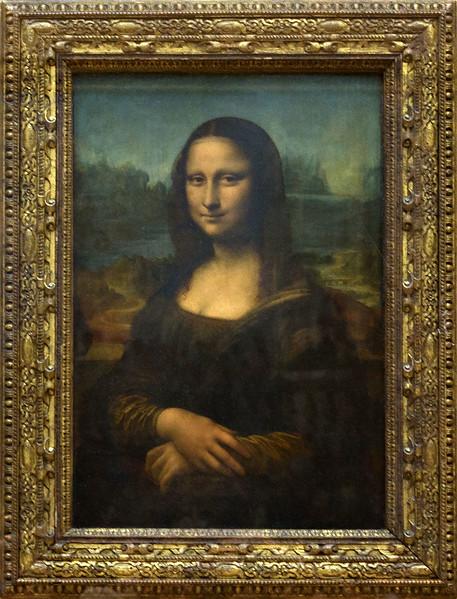 Leonardo da Vinci, La Joconde (Mona Lisa) 1517