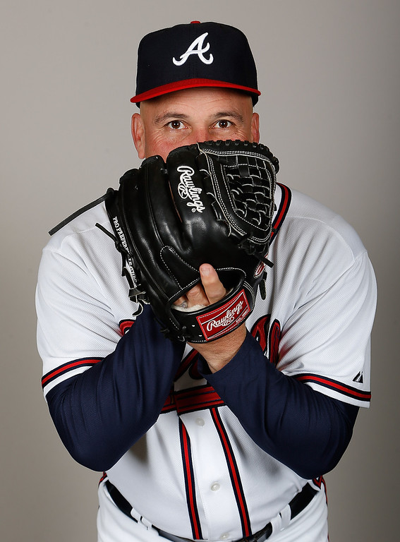 . LAKE BUENA VISTA, FL - FEBRUARY 20:  Manager Fredi Gonzalez #33 of the Atlanta Braves poses for a photo during photo day at Champion Stadium at the ESPN Wide World of Sports Complex at Walt Disney World on February 20, 2013 in Lake Buena Vista, Florida.  (Photo by J. Meric/Getty Images)