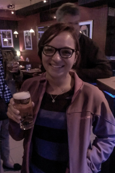 Victoria had her first legal beer at a pub