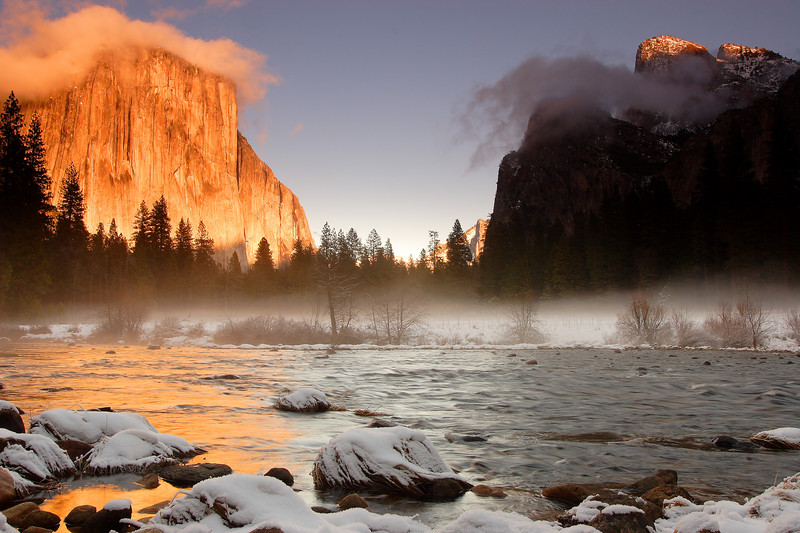 Evening, Gates of the Valley Yosemite National Park California