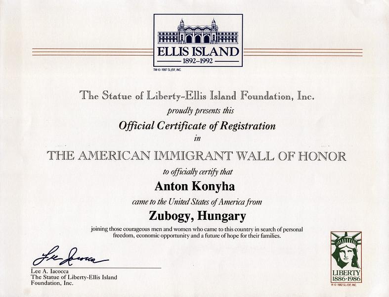 1925 Certificate of Ellis Island.jpeg