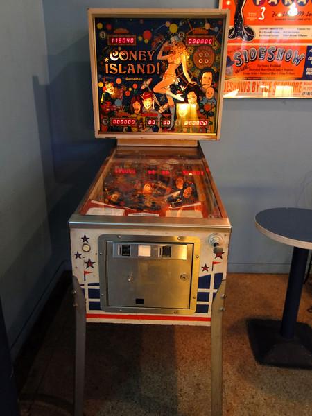 "7-1-11 - Gameplan 1979  ""Old Coney Island"" pinball - Coney Island USA Freak Bar"