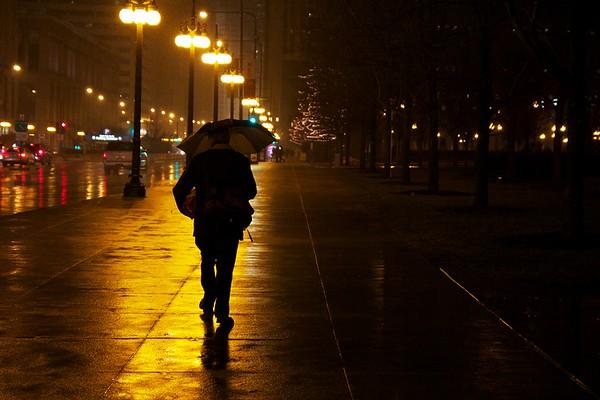 A Rainy Night in Millennium Park