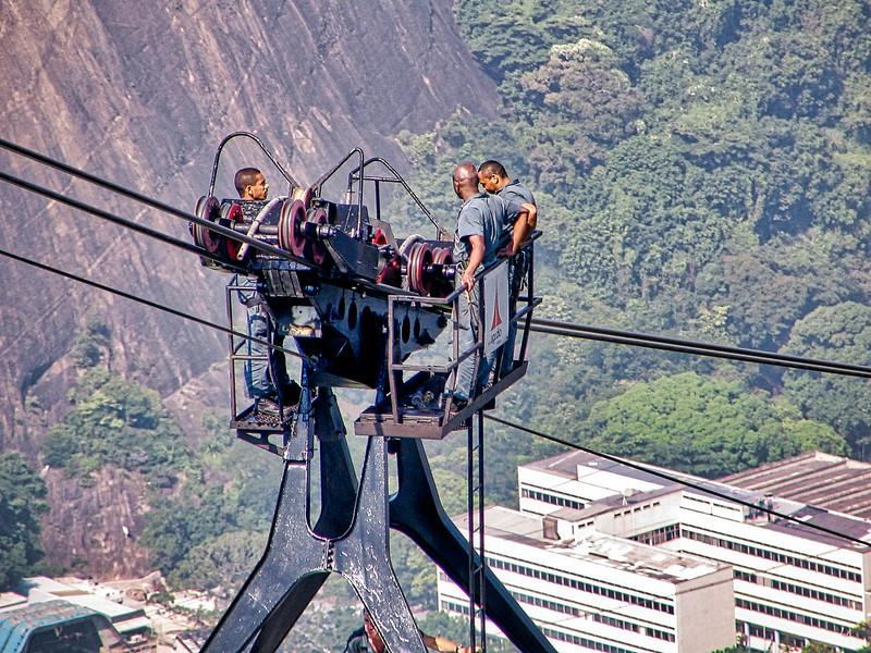 Gondola workers